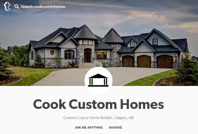 Cook custom homes joins instagram tumblr for Custom homes photos